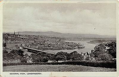 Northern Ireland Postcard General View Londonderry L0 004