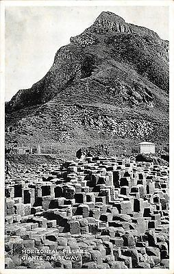Northern Ireland Postcard Horizontal Pillars Giants Causeway Real Photo   L0 011