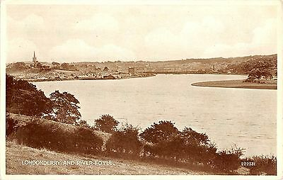 Northern Ireland Postcard Londonderry And River Foyle RPPC Real Photo L0 007