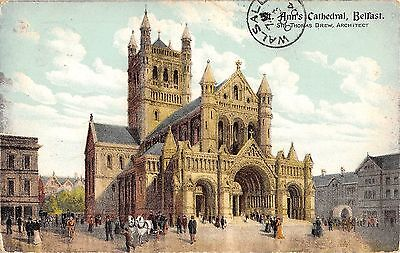 Northern Ireland Postcard St Anns Cathedral Belfast  L0 012