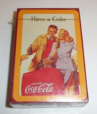Coca Cola Drink Coke Deck of Playing Cards Bridge Have A Coke Guy Girl SEALED