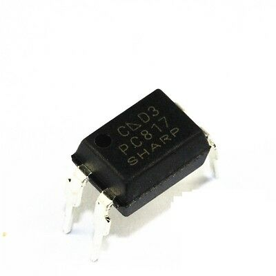 100PCS PC817 PC817C PC817/C PC817 SHARP SOP-4 Precise SMD Optocoupler NEW