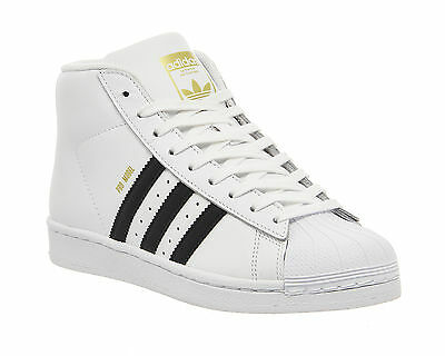 Mens Adidas Pro Model WHITE BLACK Trainers Shoes
