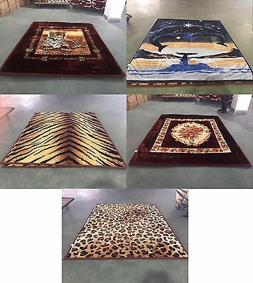 Queen Size Blankets Tiger Faux Mink Blanket Floral Warm Soft  BRAND NEW
