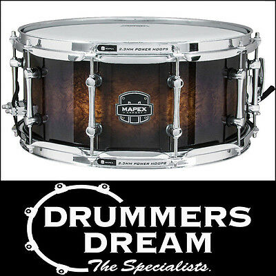 "MAPEX Armory Series ""EXTERMINATOR"" 14""x6.5"" 7ply Birch/Walnut Snare Drum NEW"