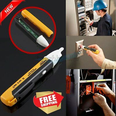 New AC Non-Contact Electric Voltage Alert Detector Tester Test Pen 90~1000V LED