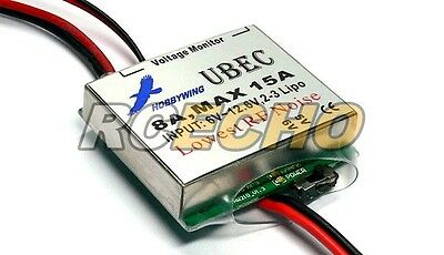 HOBBYWING RC Model 5V 6V / 8A Max 15A Low Noise UBEC BEC AC868
