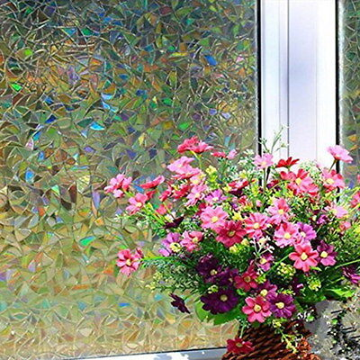 45*100cm Static Cling Cover Stained Home Decor Flower Window Film Glass Privacy