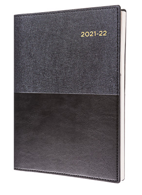 2020 - 2021 Collins Vanessa Financial Year Diary A5 Week to View Open Black