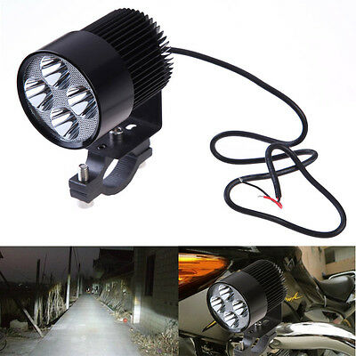 Aluminum Motorcycle Motorbike 4 LED Front Headlight Spot Light Head Lamp 20W UK