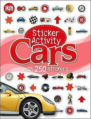 Cars Sticker activity book with over 250 Stickers by DK - New