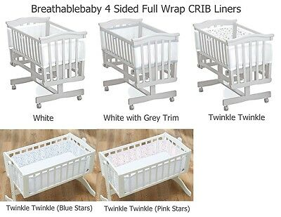 Breathable Baby 4 Sided Full Wrap Mesh CRIB Airflow liner Breathablebaby