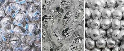 Silver DIY Candy Lolly Bar Gumball Hershey Toffee Foil Wedding Party Favour Sil