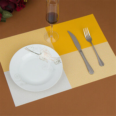4x Dining PVC Insulation Kitchen Placemats Striped Place Pad Dining Table Mats