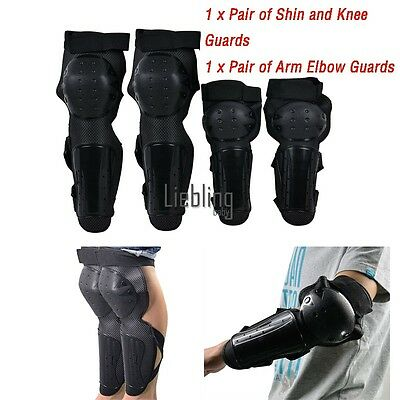 Gear Pads Motorcycle Knee Guards Protective Racing Arm Elbow Off-road 4 7 E LEBB
