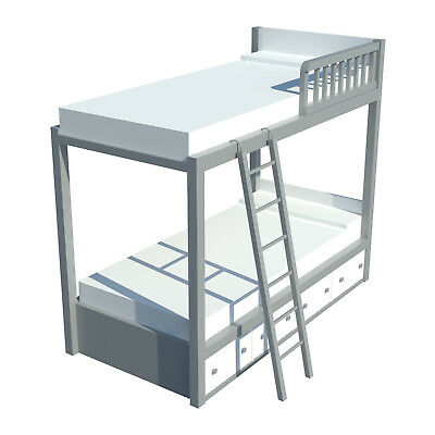 Build your own Bunk Bed with storage (DIY Plans) Fun to build!!
