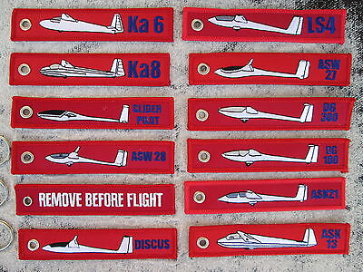 3er SET REMOVE BEFORE FLIGHT  Segelflugzeug Ka 6 / 8 ASK 13 / 21 / YakAir  Avion