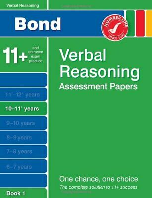 Bond Verbal Reasoning Assessment Papers 10-11+ years B... by J.M. Bond Paperback