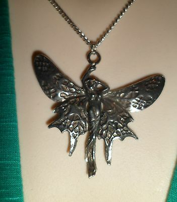 Large Fancy Fairy Necklace  - Pagan Gothic Goth Emo Fairie Fae - Christmas Gift