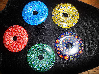 Assorted Millifiore Pi-Stones/Donut #3 - Beads Jewelry Crafts