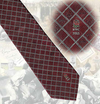 ENGLAND PLAYER RUGBY TIE - England - Rugby World Cup 2003 - 9.5cm