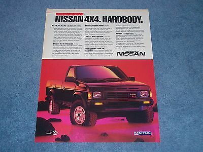 "1986 Nissan Hardbody 4x4 Vintage Ad ""The Name Is Nissan"""