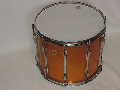 "Ludwig 15"" Gold Sparkle Tom Tenor Drum Monroe Badge #2"