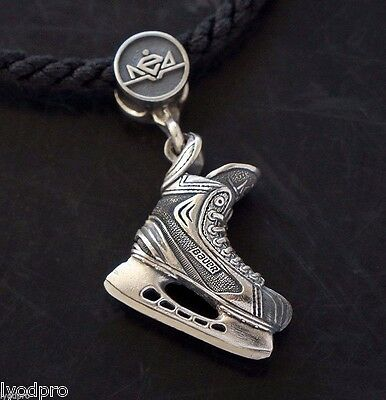 NEW exact copy Ice Hockey Skate Charm pendant Jr size champion sterling silver