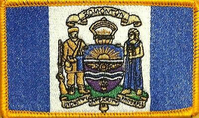 Edmonton Canada Flag Patch With VELCRO® Brand Fastener Gold Border #3