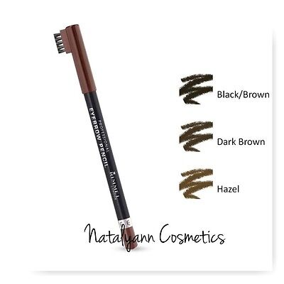 RIMMEL PROFESSIONAL EYEBROW PENCIL 004 Black Brown NEW  + FREE P&P