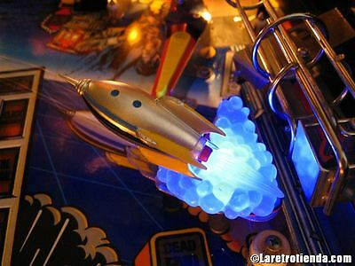 TWILIGHT ZONE PINBALL - ROCKET SHIP BLUE BASE [pinball flipper machine MOD]