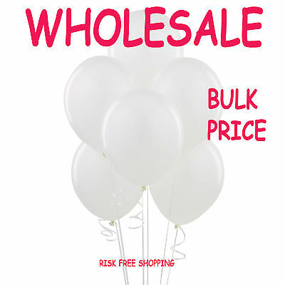 WHOLESALE Value White Balloons Latex LARGE High Quality Bulk Price Party Baloons