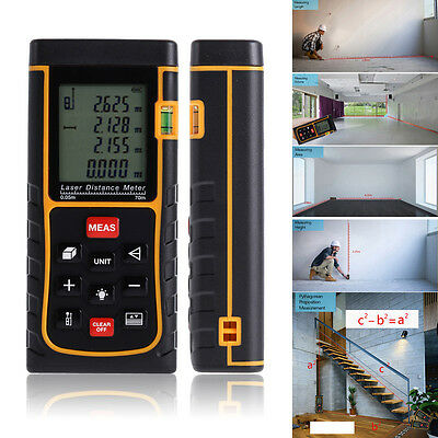 80M Digital Handheld Laser Distance Meter Test Range Finder Measure Diastimeter