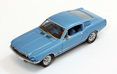 ford mustang gt fastback 1967 metallic light blue 1 43. Black Bedroom Furniture Sets. Home Design Ideas