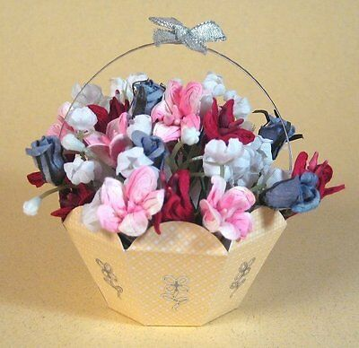 A4 Card Making Templates for 3D Flower Basket & Display Box by Card Carousel