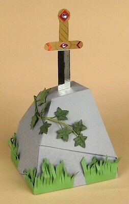 A4 Card Making Templates for Sword in the Stone + Display Box by Card Carousel
