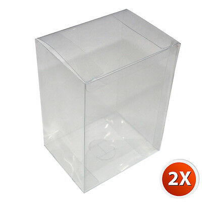2-Pack [4 inch] Crystal Clear Vinyl Box Cover Case w/ Plastic Film For Funko Pop