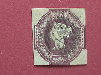 Lot #1218 Victoria 1847 6d Lilac Embossed 4 Close Margins Used SG59 (1)