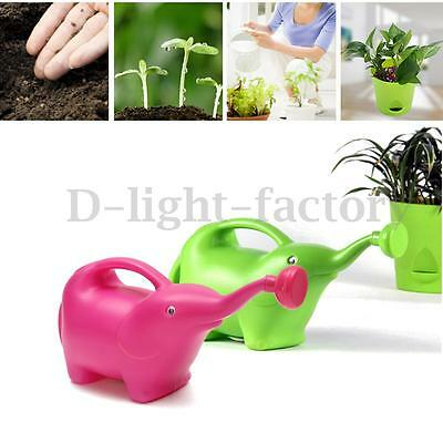 2L Children Cartoon Elephant Drop Removable Plastic Sprinkler Plant Watering Can