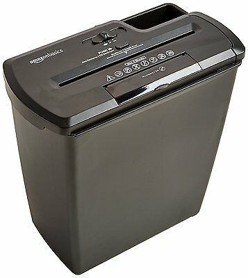 AmazonBasics 8-Sheet Strip-Cut Paper, CD, and Credit Card Shredder 8-3/4-inch-wi