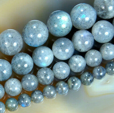 New 4mm 6mm 8mm 10mm 12mm Indian Labradorite Round Loose Gemstones Beads 15""