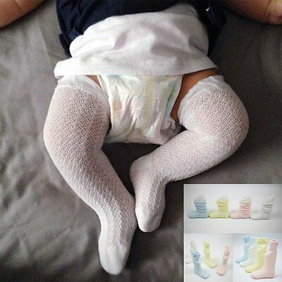 Newborn Infant Toddler Baby Girls Summer Cotton Knee High Socks Tights Stockings