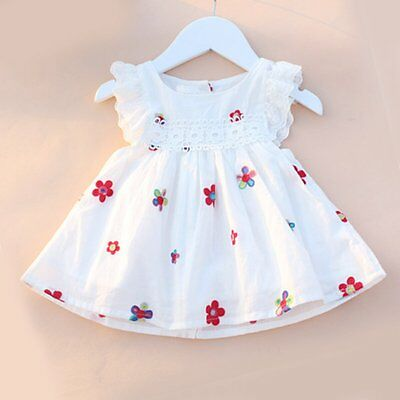 Flower Girl Summer Princess Dress Kid Baby Party Pageant Lace Tutu Dresses 3M-3Y