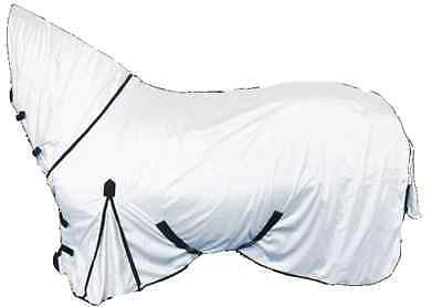 New Horse fly rug combo attached neck cover WHITE FREE FLY MASK LIMITED QUANTITY