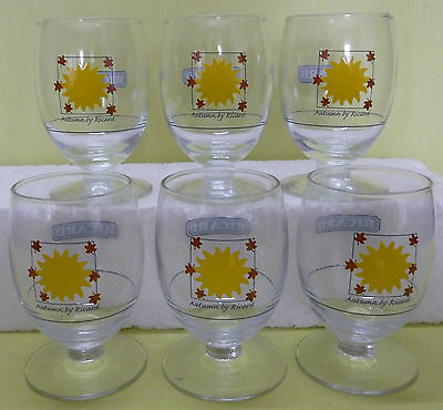 Lot 6 Verres Ricard Ballon 17 Cl , Serie Les 4 Saisons , Autumn , Td , Vr339 *