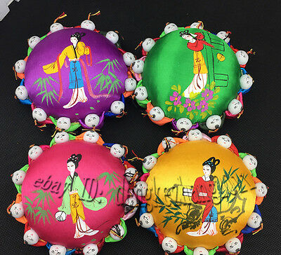 Wholesale 5 pcs Classic Chinese Handmade Cute Silk Pin Cushion With 12 Cute Kids