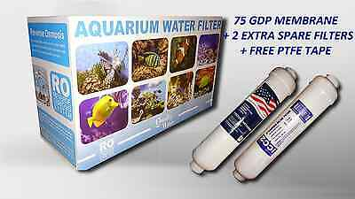3 Stage Reverse Osmosis Water Filter 75Gpd Ideal 4 Marine/tropical Tank Aquarium