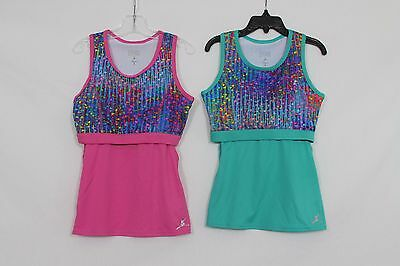 Capezio Girls Size M 7-8 Dance Gymnastics Top with built-in bra Nwot