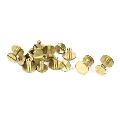 3.6mm x 5mm Binding Chicago Screws Post Binder 10pcs for 6-8mm Thickness