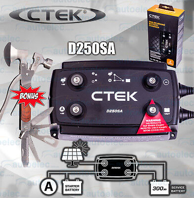 Ctek D250Sa Dual Dc To Dc Battery Solar Charger 12V Volt Car System + Multitool